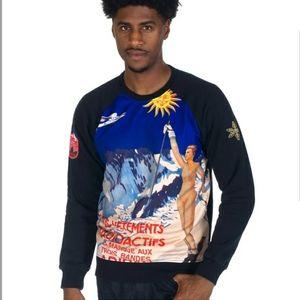 Adidas Black Graphics Art Crew Sweatshirt XL